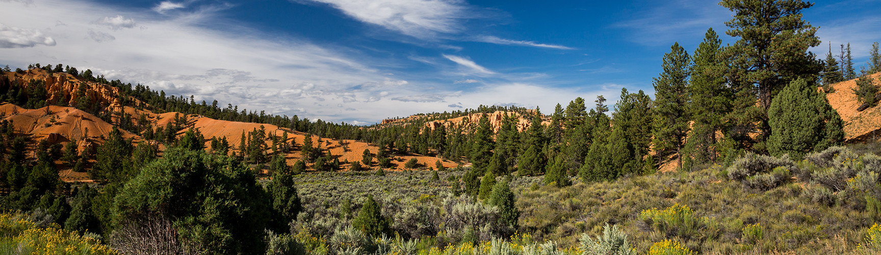 Beautiful views of the mountains in Southern Utah near Cedar Breaks Lodge & Spa