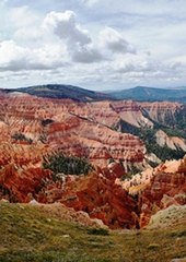 Stunning view of the mountains near Cedar Breaks Lodge & Spa in Brian Head, Utah.